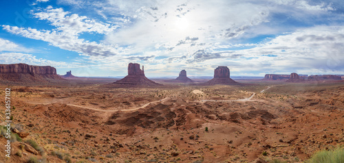 Fototapety, obrazy: the scenic drive in the monument valley, usa