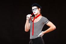 Portrait Of Male Mime Artist P...