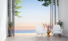 Modern Tropical Living Room In...