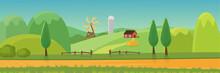 Cute Rural Landscape Panorama ...
