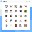 25 Creative Icons Modern Signs and Symbols of passport, review, maze, up, like
