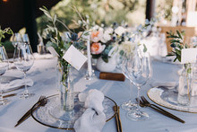 Wedding Decor In Blue And Gray...