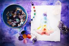 Reiki Healing Chakra Backgroun...