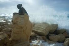 Paphos Hafenstatue Der Frau Na...