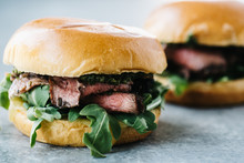 Grilled Rosemary Steak Sandwic...