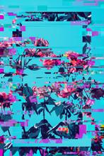 Vibrant Floral Pixel