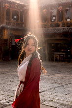 Chinese Woman With Traditional Clothes
