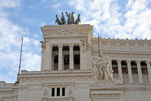 Details Of The Altare Della Patria (Altar Of The Fatherland), Also Known As The National Monument To Victor Emmanuel II Or Il Vittoriano In Rome, Italy