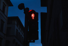 Traffic Light During The Night