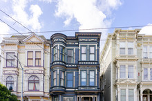 A Group Of Three Vintage Apartment Buildings In Downtown San Francisco
