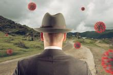 Man Observes Viruses Flying In...