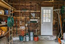 Residential Garage With Door