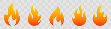 Fire Icons For Design. Concept...