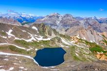 Image Of The Lac Blanc (White Lake) Located At 2699 M On Vallee De La Claree (Claree Valley) In Hautes Alpes Department In France.