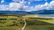 Aerial View Of Landscape Near Korenica In Lika, Croatia.