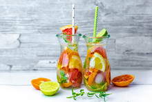 Jars Of Infused Water With Var...
