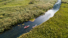 Aerial View Of Kayakers On Nor...