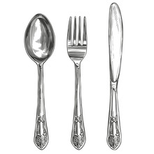 Cutlery Set Fork, Spoon, Knife...