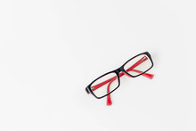 Modern Eyeglass Isolated On Wh...
