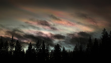Nacreous And Cumulus Clouds In...