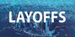 Layoffs theme with Manhattan New York City skyscrapers