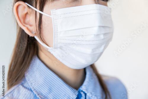 Carta da parati マスクをする女性