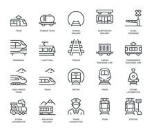 Rail Transport Icons
