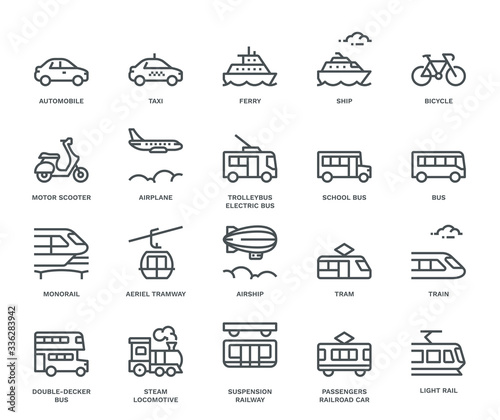Fotografía Public Transport Icons