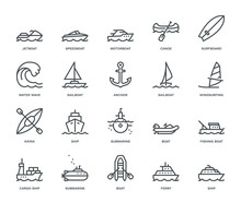 Water Transport Icons.