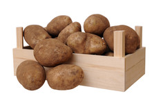 A Crate With Russet Potato