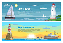 Lighthouse Sea Travel Banners ...