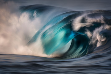 Panel Szklany Natura Motion blur photo of a large wave, Sydney Australia