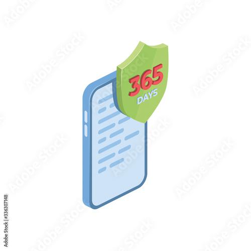 Fotografia, Obraz Phone smartphone warranty 1 year 365 days