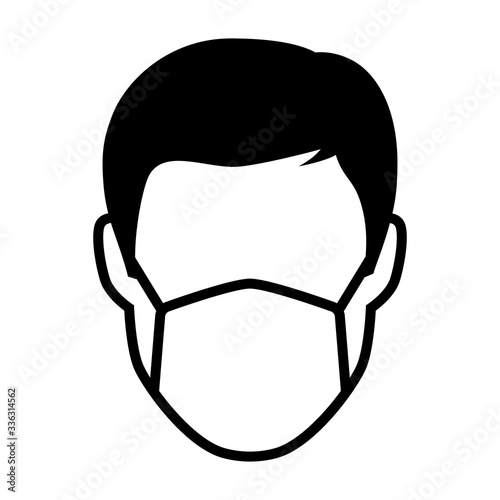 Obraz Simple face mask or surgical mask flat vector icon for medical apps and websites - fototapety do salonu