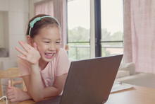 Asian Girl Making Facetime Vid...
