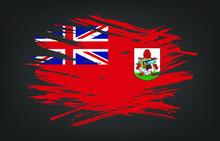 Grunge Flag Of Bermuda. Vector...