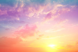 Fototapeta Na sufit - Colorful cloudy sky at sunset. Gradient color. Sky texture, abstract nature background