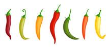Chilli Pepper. Hot Red, Green ...