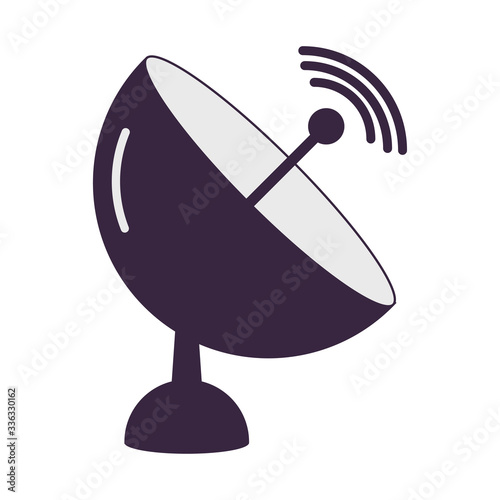Satellite dish icon vector illustration design isolated Slika na platnu