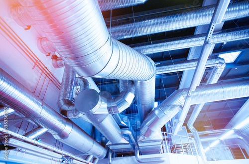 Cuadros en Lienzo System of industrial ventilating pipes