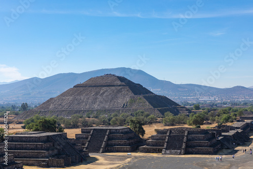 The Pyramids in ancient city of Teotihuacan in Mexico.