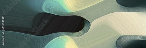 abstract surreal designed horizontal banner with dark slate gray, dark sea green and pastel gray colors Fotobehang