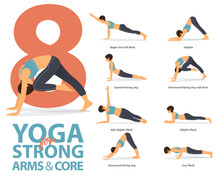 Infographic Of 8 Yoga Poses Fo...