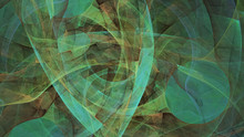 Abstract Green And Brown Chaot...