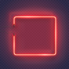 Neon Rectangle Lamp Wall Sign ...
