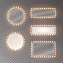 Light Rectangle Banner Set Iso...