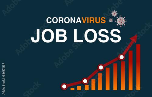 coronavirus impact on the economy worldwide has caused massive amounts of job loss and record level of employees on furlough Fototapeta