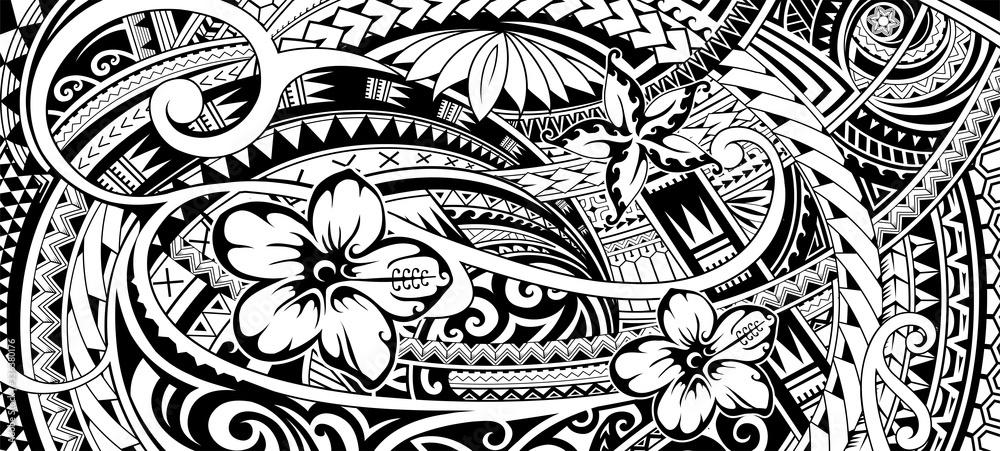 Fototapeta Polynesian ethnic ornament