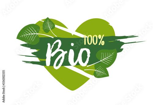 Fototapeta Bio 100% sticker, vector illustration obraz