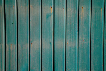 Tin fence, colorful